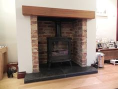 woodburner brick hearth - Google Search
