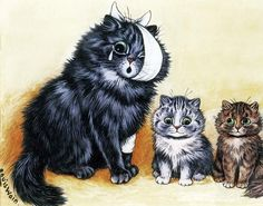 Louis Wain Cats Cats - accident. louis wain