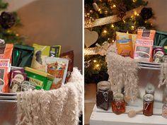 "// DIY ""Get Cozy"" Gift Basket"