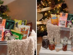 "// DIY ""Get Cozy"" Gift Basket"