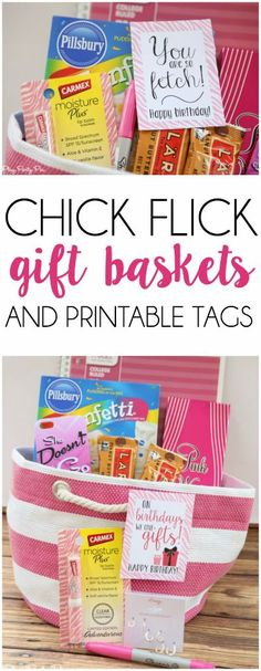 Love these gift basket ideas inspired by some of the best chick flicks! And the movie quote gift tags are awesome!