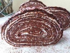 Csokis-mascarponés tekert süti 🥧 | Ninnaska Ízvilág receptje - Cookpad receptek Pancakes, Dessert Recipes, Pie, Sweets, Cookies, Baking, Breakfast, Food, Minden