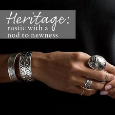Silpada's Heritage Collection is rustic with a nod to newness. #Silpada  shop it here at www.mysilpada.com/Jasmin.bevolas