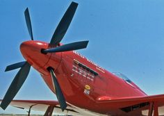 """Mojave 1000 - 1975 - Unlimited Class - North American Aviation RB-51D Mustang (#5) """"RED BARON"""" Mac McClain"""