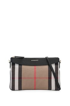 BURBERRY House Check And Leather Clutch Bag | REEBONZ THAILAND saved by #ShoppingIS