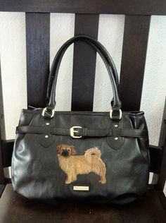 Tibetan Spaniel Dog Hand Painted Purse / Handbag by PaintedPooches, $65.00