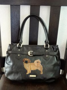 Tibetan Spaniel Dog Hand Painted Purse / Handbag by PaintedPooches, $65.00