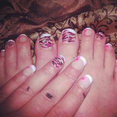My very first nail art #manipedi