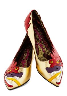 Brave Reviews Flat. Art critics have commended the avant garde eccentricity of your newest installation, and the compliments continue when you stride boldly into the museum wearing these pointed flats from Irregular Choice! #multi #modcloth