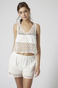 Crochet Insert Top - Swimwear & Beachwear - Clothing - Topshop USA
