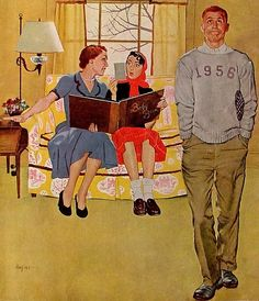 🌟Tante S!fr@ loves this📌🌟Marmont Hill Boyfriends Baby Pictures George Hughes Painting Print on Canvas 18 x 18 Home Decor Wall Decor Paintings and Prints Vintage Ads, Vintage Posters, Vintage Soul, Vintage Romance, Vintage Pictures, Baby Pictures, Painting Prints, Canvas Prints, Norman Rockwell Art