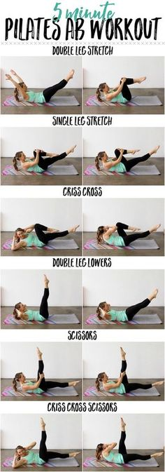 This 5 Minute Pilates Ab Workout will target every inch of your waistline!   This Pilates Ab Series is quick and efficient to tone your core and shape your midsection!   #abworkout #abs #workout   http://thelivefitgirls.com/2014/03/09/5-minute-pilates-ab-workout/