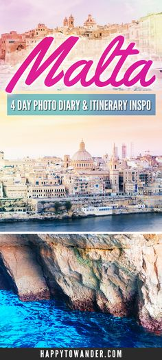Visiting Malta and looking for the best things to see, do and experience in Malta? Check out this gorgeous photo diary packed with inspiration for how to spend 4 days in Malta. Take this as the ultimate itinerary inspiration for your next Malta visit! Europe Travel Guide, Spain Travel, France Travel, Backpacking Europe, Budget Travel, European Destination, European Travel, European Tour, Places To Travel