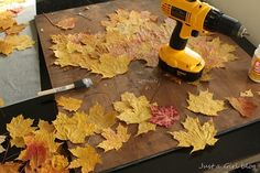 Real Leaf Project {Fall Craft}