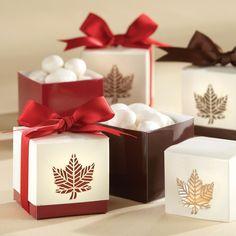 """Autumn Elegance"" Laser Cut Wedding Favor Boxes   #exclusivelyweddings   #redwedding"