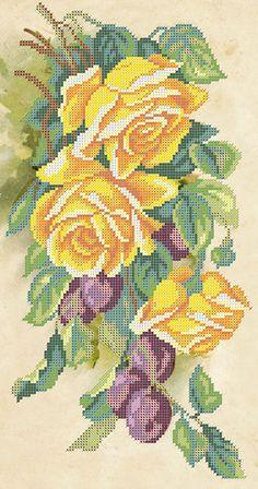 Розы и сливы A-568