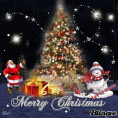 Merry Christmas to all my Blingee friends