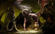 Videojuego World Of Warcraft  Illidan Stormrage Demonio Fondo de Pantalla