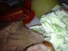 Summer coleslaw with lamb