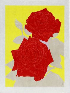Two Roses , 2009  by Gary Hume  Print