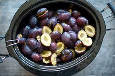 Slow Cooker Brown Sugar Plum Butter - Saving for next year
