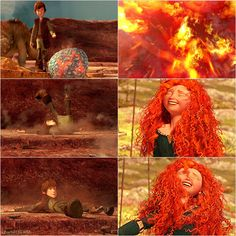Okay, Merida it's not that funny XD