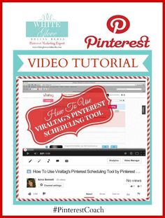 #PinterestCoach shares step-by-step video tutorial on how to use Viraltag's Pinterest scheduling tool for only $4.99/month! CLICK HERE to view video http://www.youtube.com/watch?v=O_qe6ETBZ-4 #PinterestExpert Anna Bennett ✭ @ViralTag