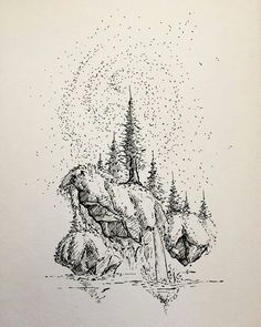Awesome piece of #nature #fantasyart by Michael Lindberg (@dustybrockway) of a pair of floating islands covered in moss set on a background of a pointillist starry night sky. I love seeing artists I follow try new and different things within their typical style. In this we see Michaels trademark floating islands but that night sky backdrop and rising waters below give us a different view of the nowhere-land fanciful landscapes that Michael creates.  You might question me on my use of the…