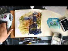 Art Journal play: Tim Holtz Distress Crayons