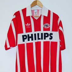 1990-1992 PSV Home Shirt #9 (Romario) - beautiful shirt from Timeless Football get yours in store  #psv #adidas #romario #footballshirtcollective