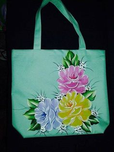 Hand Painted Dress, Hand Painted Fabric, Painted Bags, Hand Painted Canvas, Fabric Painting On Clothes, Painted Clothes, Silk Painting, Pinterest Pinturas, Fabric Paint Designs