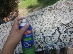 | How to Spray Paint Using Lace as a Stencil | http://www.chicantique.org