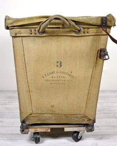 Vintage Industrial Laundry Cart - I could put so much dirty laundry in there Repinned by www.silver-and-grey.com