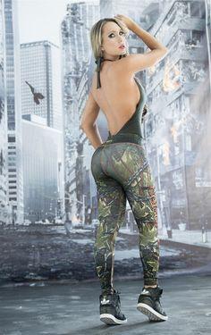 Poison Ivy - Super Hero Leggings - Fiber - Roni Taylor Fit - 3