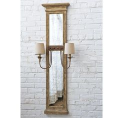French Provincial Mirrored Sconce weathered_wood