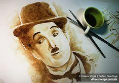 Coffee Art - Dirceu Veiga e sua arte com café sobre papel - Designerd