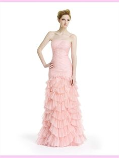 Pink Tulle Evening Dress AEV020032  http://www.jackybridal.com/ offer wedding dresses, prom dresses,cheap formal dresses,cocktail dresses,party dresses,Evening Dresses,Christmas Party dresses 2012 at http://www.jackybridal.com/  $199.00 (USD)