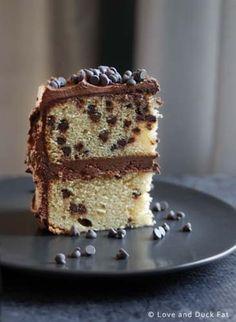 Chocolate chip white cake recipe from scratch