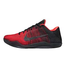 0340cbd974c Men s Nike Black Red Gray Kobe XI Elite Low Basketball Shoe