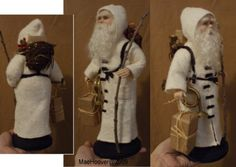 Hand Sculpted OOAK Santa Clay Doll Artist Mae Hoover by annitasart