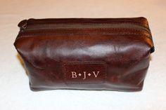 fd2bcfefaaf8 PotteryBarn Travel Saddle Leather Toiletry Case Bag MSRP  59 NWOT FREE SHIP