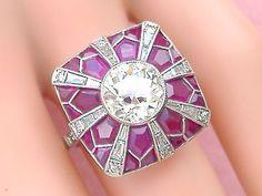 Yellow Diamond Engagement Sapphire Available – Amazing Jewelry Edwardian Jewelry, Antique Jewelry, Art Deco Jewelry, Fine Jewelry, Ruby Jewelry, Diamond Jewellery, Vintage Art Deco Rings, Purple Rings, Marcasite Jewelry