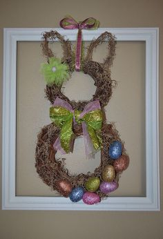spring easter bunny wreath for less than 10, crafts, easter decorations, how to, seasonal holiday decor, wreaths