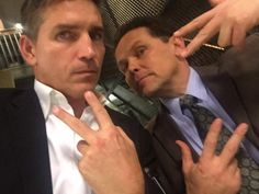 """""""The Reese and Fusco, Peace On Earth Photo! Person Of Interest Cast, James Caviezel, Passionate Person, John Reese, Drama Tv Series, Mel Gibson, Best Bud, Best Series, Hollywood Actor"""