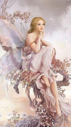 Beautiful fairy illustration.