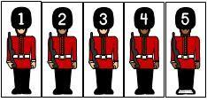Making Learning Fun | British Guard Numeric Order Activity