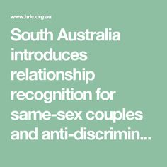 South Australia introduces relationship recognition for same-sex couples and anti-discrimination protections for intersex people | Human Rights Law Centre