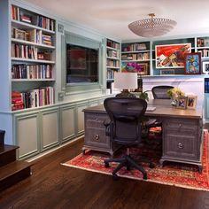 Home Office Double Desk Design