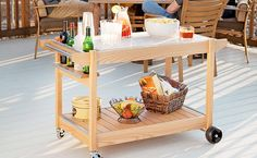 Entertaining friends is easy with this versatile server that's great for the deck, a patio, or a sunroom.