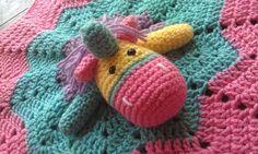 Bertie unicorn lovey crochet unicorn lovey by HomespunAccessories, $17.00
